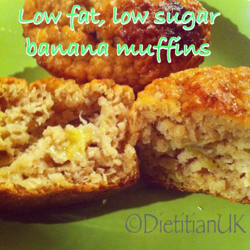Low Cholesterol Low Sugar Recipes  Dietitian UK Low fat low sugar banana muffins
