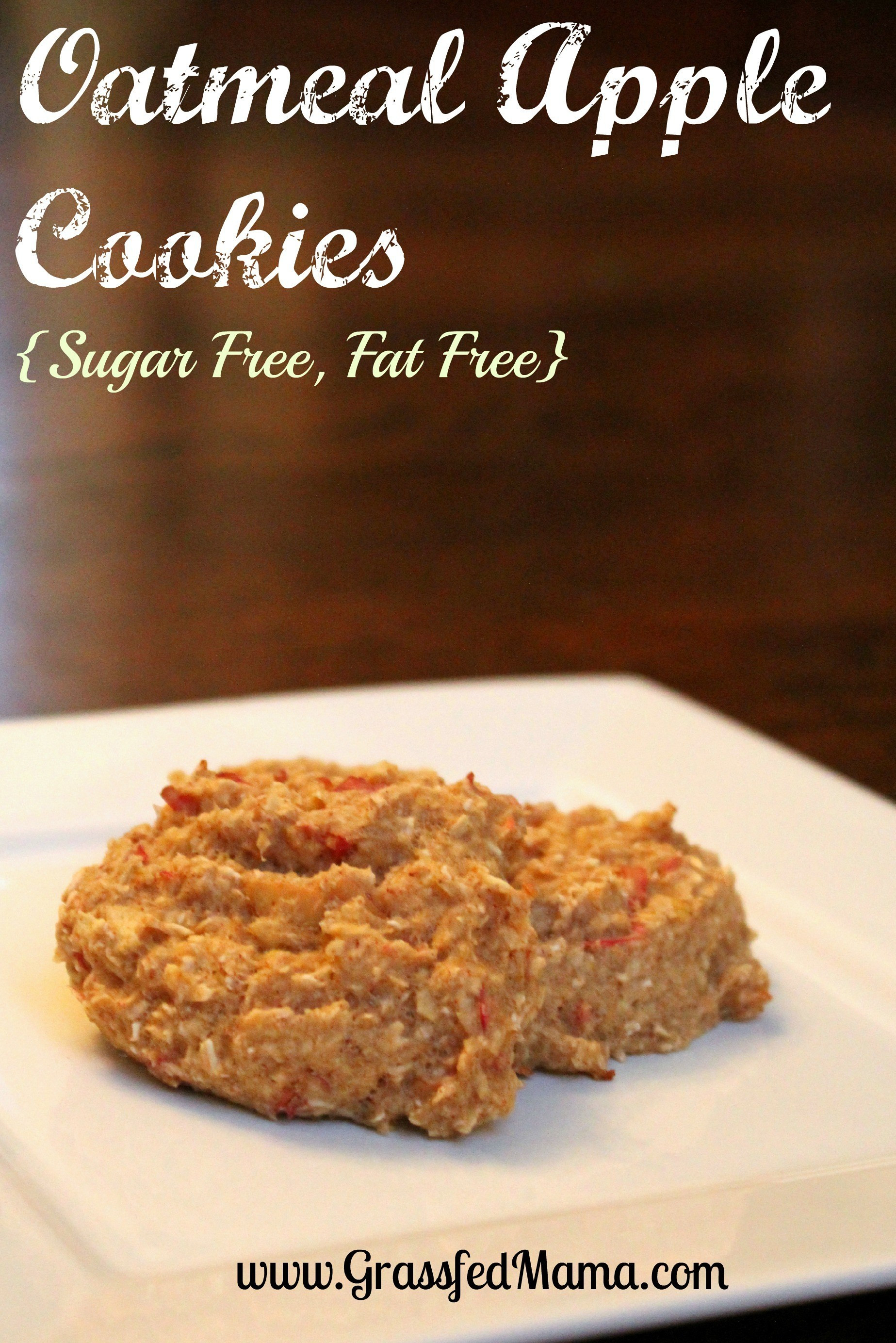 Low Cholesterol Low Sugar Recipes  Low Fat Low Sugar Oatmeal Apple Cookies Grassfed Mama