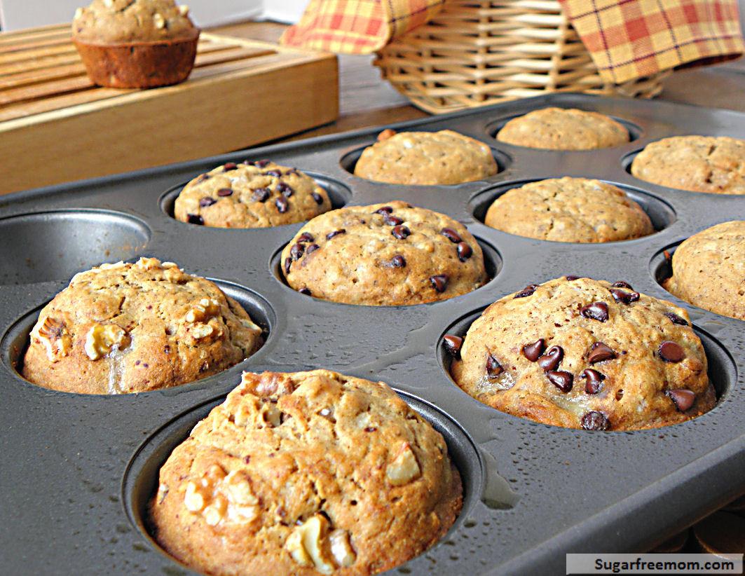 Low Cholesterol Low Sugar Recipes  Gluten Free Low Fat Banana Bread Muffins [No Sugar Added]