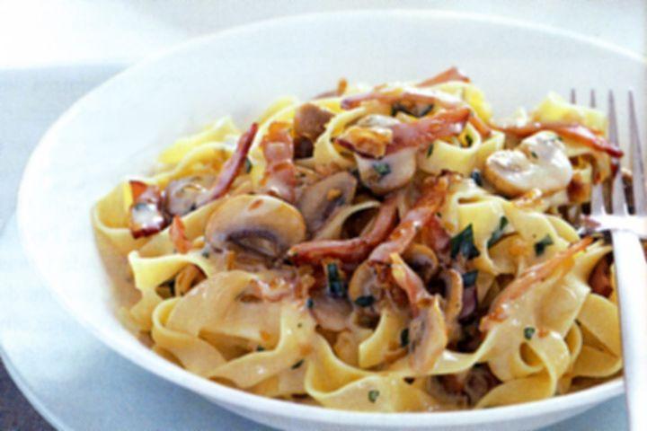 Low Cholesterol Pasta Recipes  Low fat pasta boscaiola