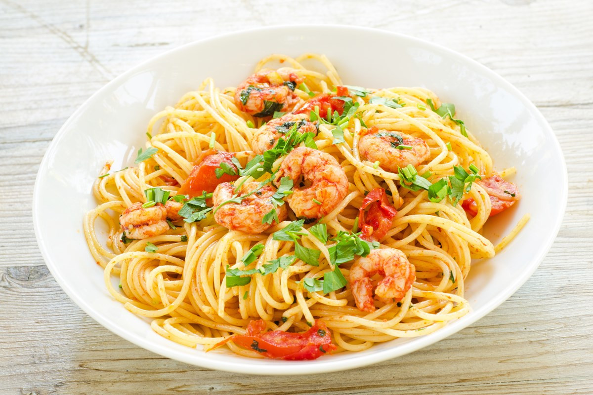 Low Cholesterol Pasta Recipes  Easy Low Fat Spicy Shrimp Pasta KitchMe