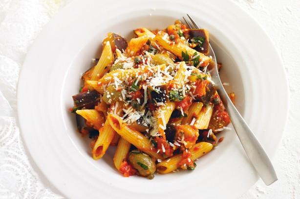 Low Cholesterol Pasta Recipes  Low Cholesterol Pasta Eggplant Caponata
