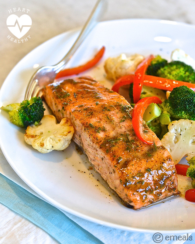 Low Cholesterol Salmon Recipes  Heart Healthy Recipe Mustard Glazed Salmon
