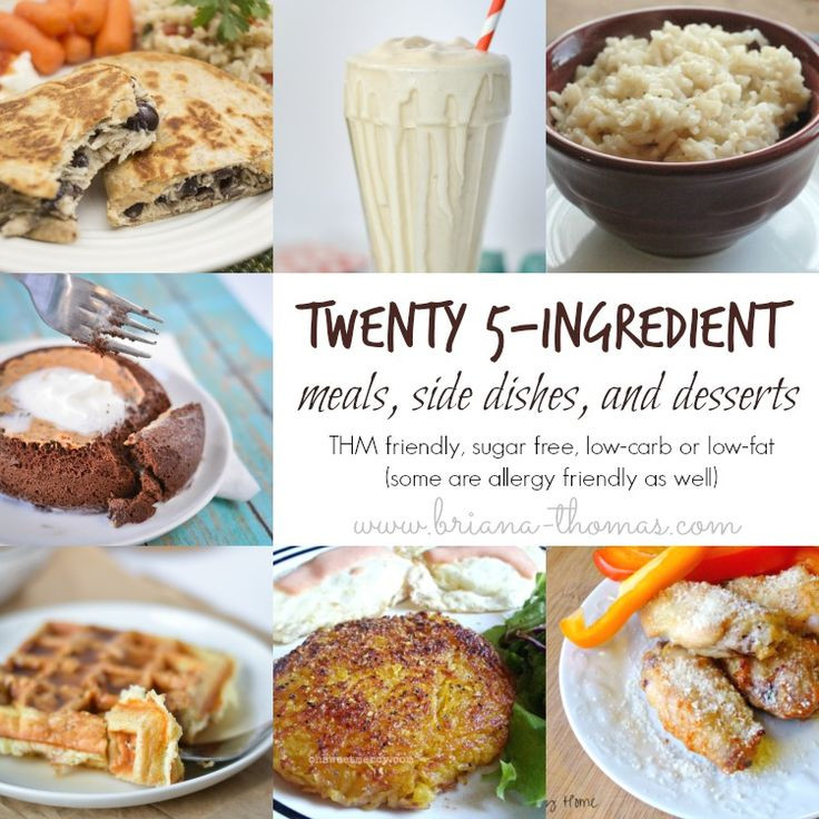 Low Cholesterol Side Dishes  This roundup of Twenty 5 Ingre nt Meals Side Dishes