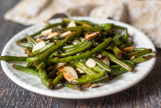Low Cholesterol Side Dishes  Easy Asian Green Beans Almondine My Life Cookbook low