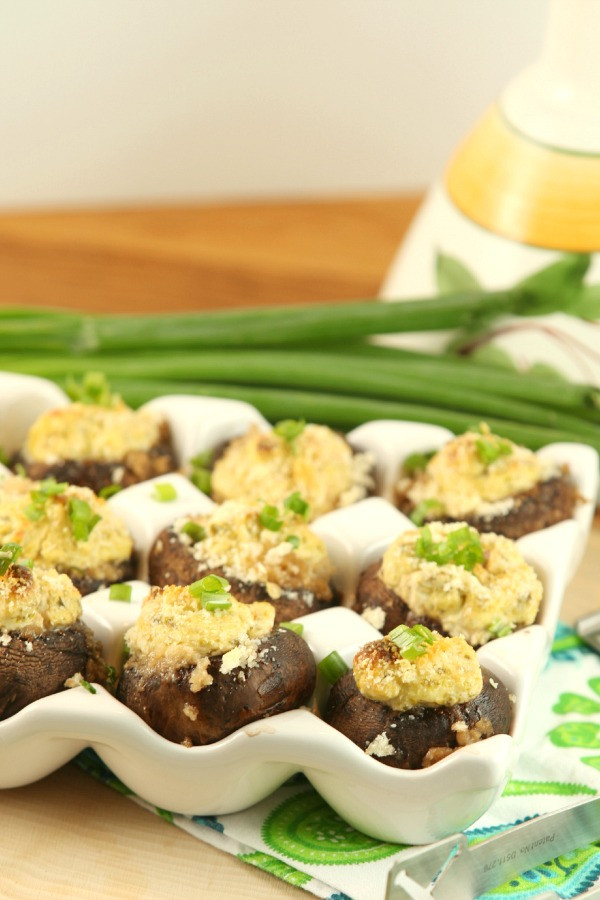 Low Fat Appetizer Recipes  Jalapeno Popper Stuffed Mushrooms Low Calorie Low Fat