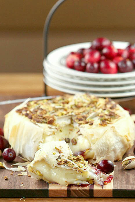 Low Fat Appetizer Recipes  Unbelievably good Cranberry Pistachio Stuffed Brie