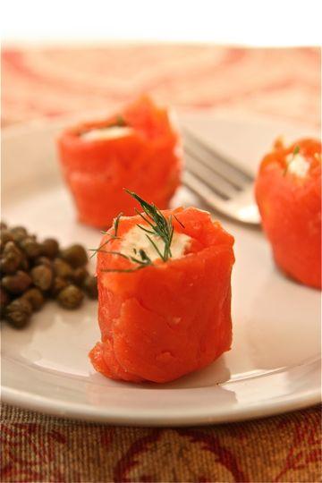 Low Fat Appetizers  Low Fat Appetizer Smoked Salmon Roll Ups ingre ntsinc