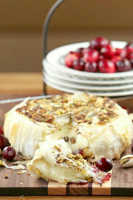 Low Fat Appetizers  Unbelievably good Cranberry Pistachio Stuffed Brie