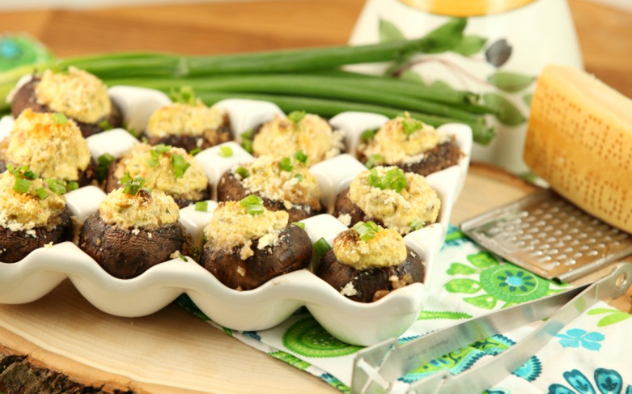 Low Fat Appetizers  Jalapeno Popper Stuffed Mushrooms Low Calorie Low Fat