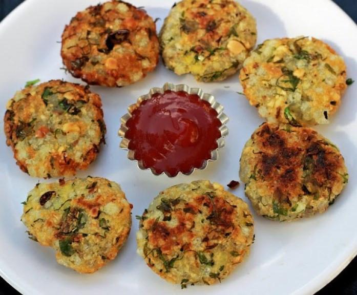Low Fat Appetizers  Healthy Sabudana Oats Vada Recipe