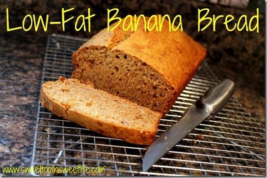 Low Fat Banana Bread  Low Fat Banana Nut Bread Recipe — Dishmaps
