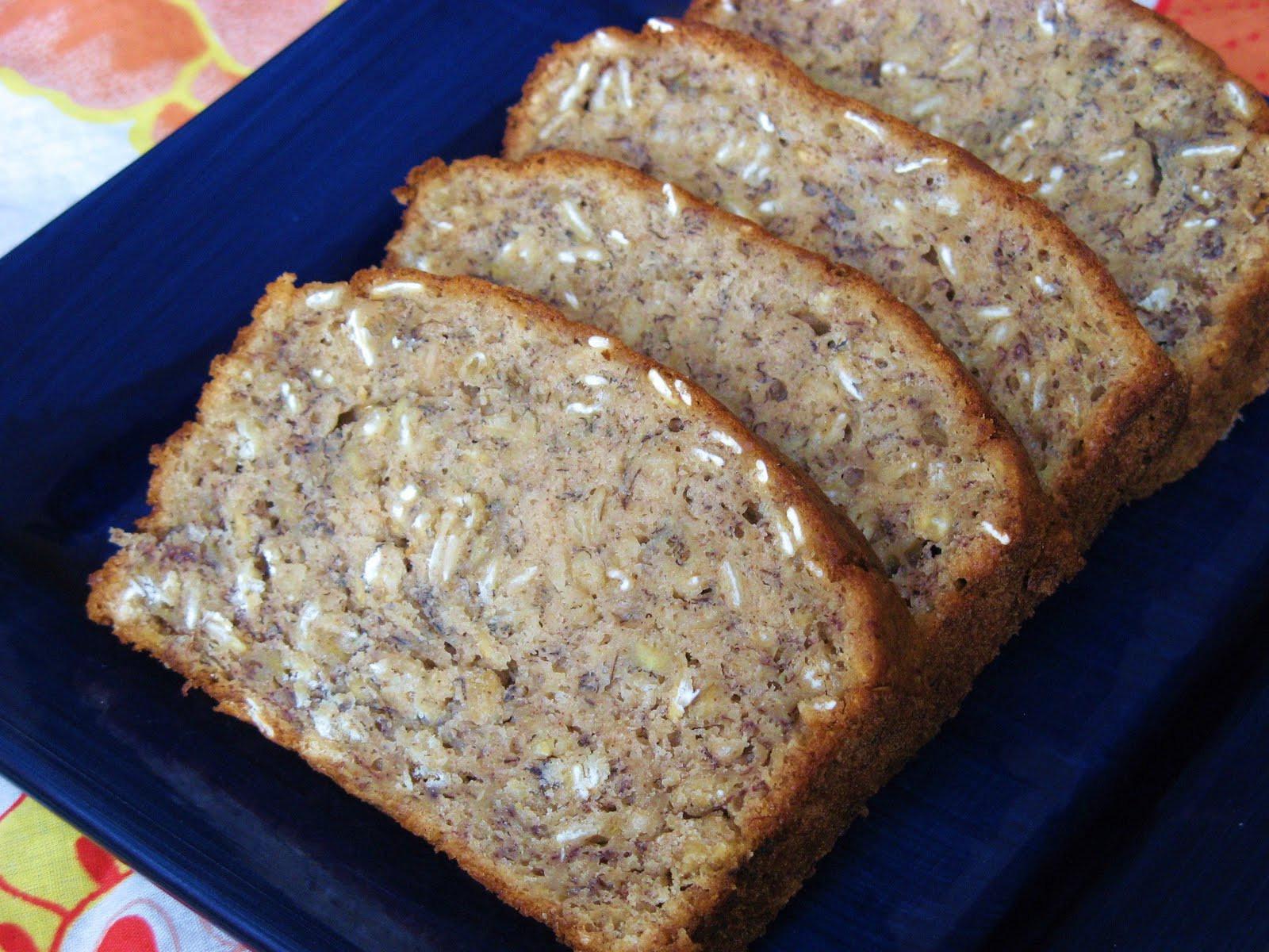 Low Fat Banana Bread  The Well Fed Newlyweds Low Fat Oatmeal Banana Bread