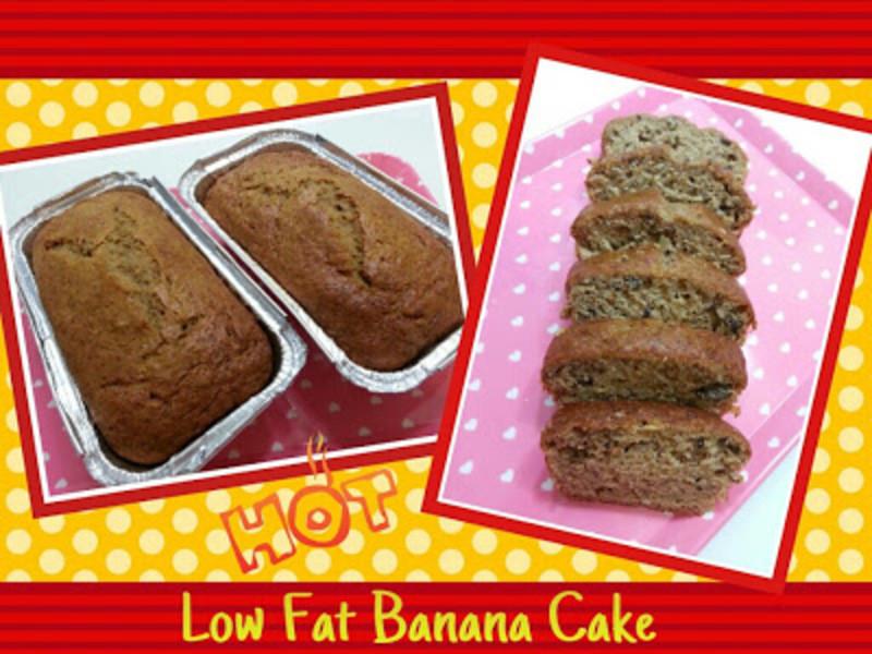 Low Fat Banana Recipes  Low Fat Banana Cake Recipe by Cecilia CookEat