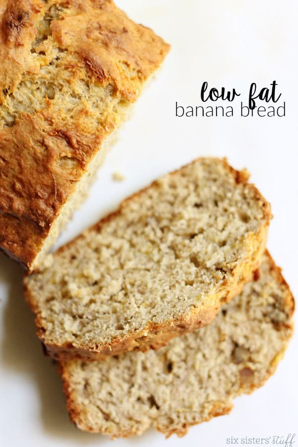 Low Fat Banana Recipes  Low Fat Banana Bread Recipe – Six Sisters Stuff