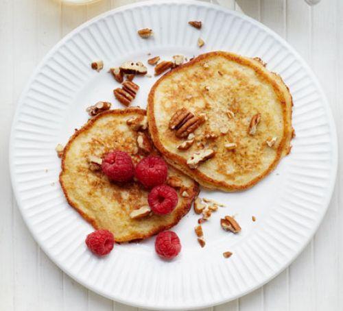 Low Fat Breakfast Meat  Banana pancakes recipe