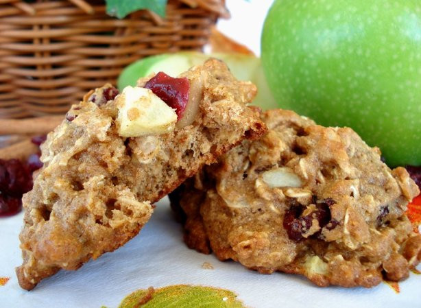 Low Fat Breakfast Recipes  Low Fat Apple Cranberry Breakfast Cookies Recipe Food