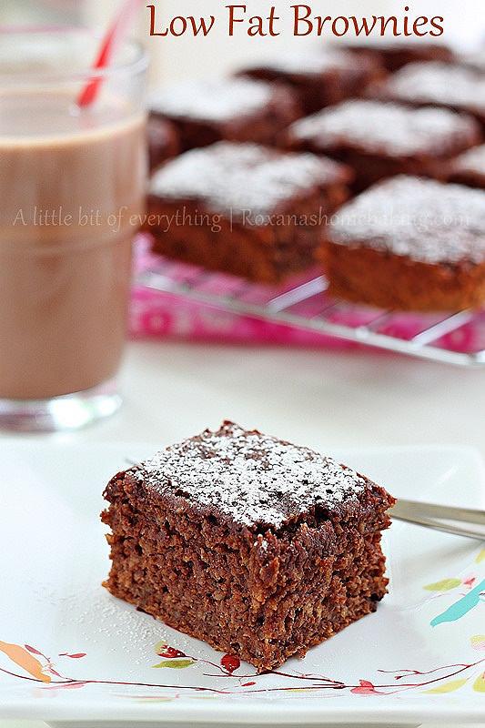 Low Fat Brownies  Low fat banana brownie recipe