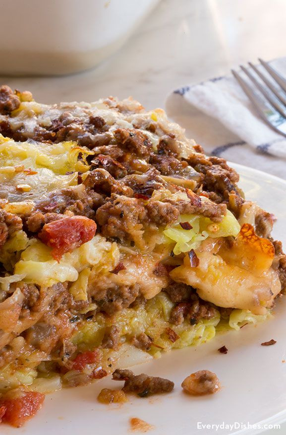 Low Fat Cabbage Recipes  Hearty Low Carb Cabbage Lasagna Recipe