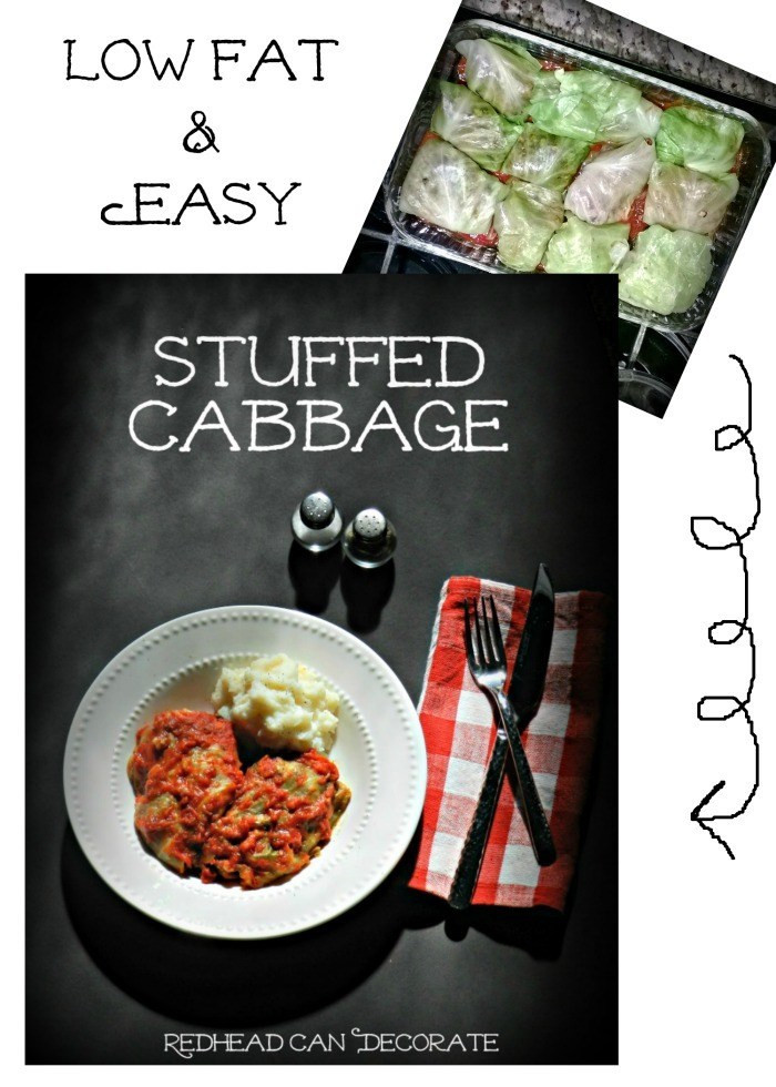 Low Fat Cabbage Recipes  Stuffed Cabbage Recipe Redhead Can Decorate