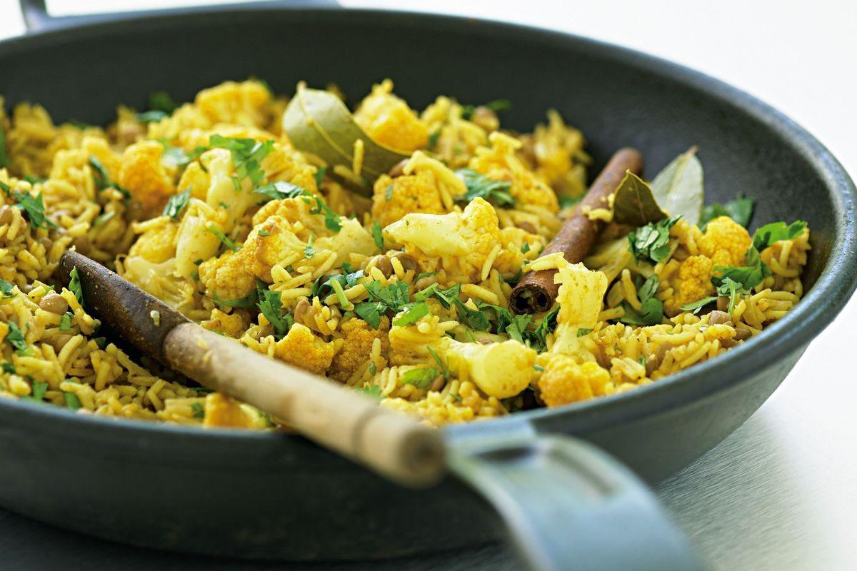 Low Fat Cauliflower Recipes  Lentil and cauliflower pilaf low fat Recipes