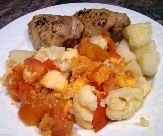 Low Fat Cauliflower Recipes  Low Fat Cauliflower Tomato Casserole Recipe Food
