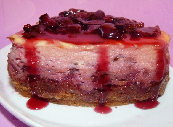 Low Fat Cheesecake Recipe  Baked Cherry and Amaretto Cheesecake