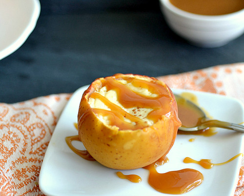 Low Fat Cheesecake Recipe  Low fat Cheesecake Stuffed Baked Apples