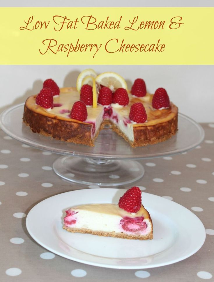 Low Fat Cheesecake Recipes  Low Fat Baked Lemon & Raspberry Cheesecake