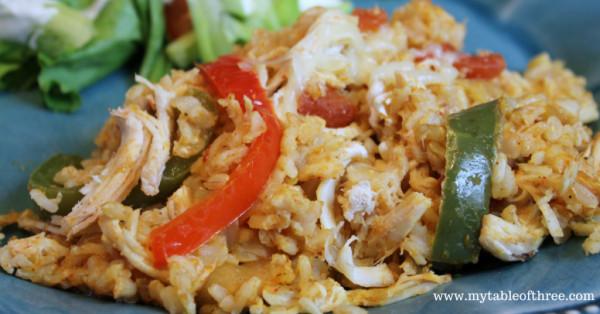"Low Fat Chicken Fajitas  Chicken Fajita Rice Low Fat & THM ""E"" My Table of Three"