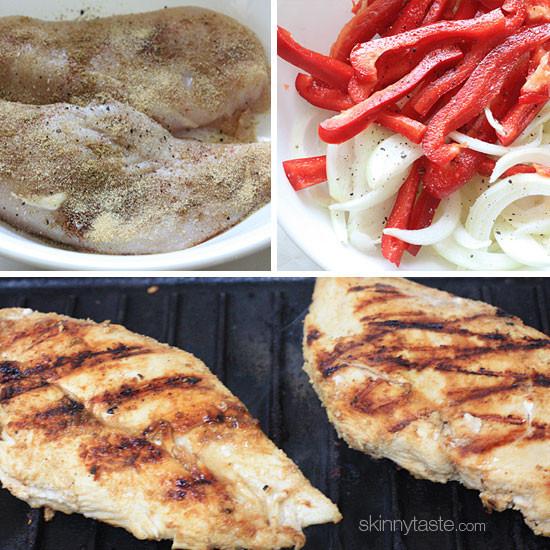 Low Fat Chicken Fajitas  Skinny Chicken Fajitas Recipe