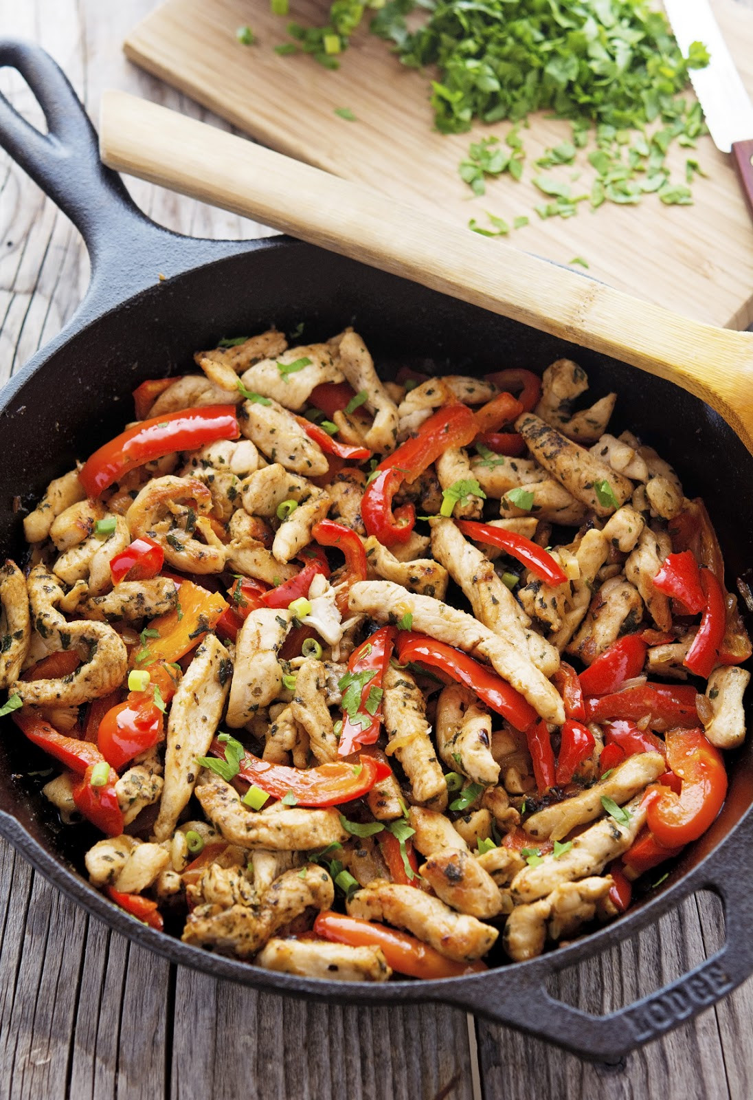Low Fat Chicken Fajitas  The Iron You 20 Minute Skillet Chicken Fajitas