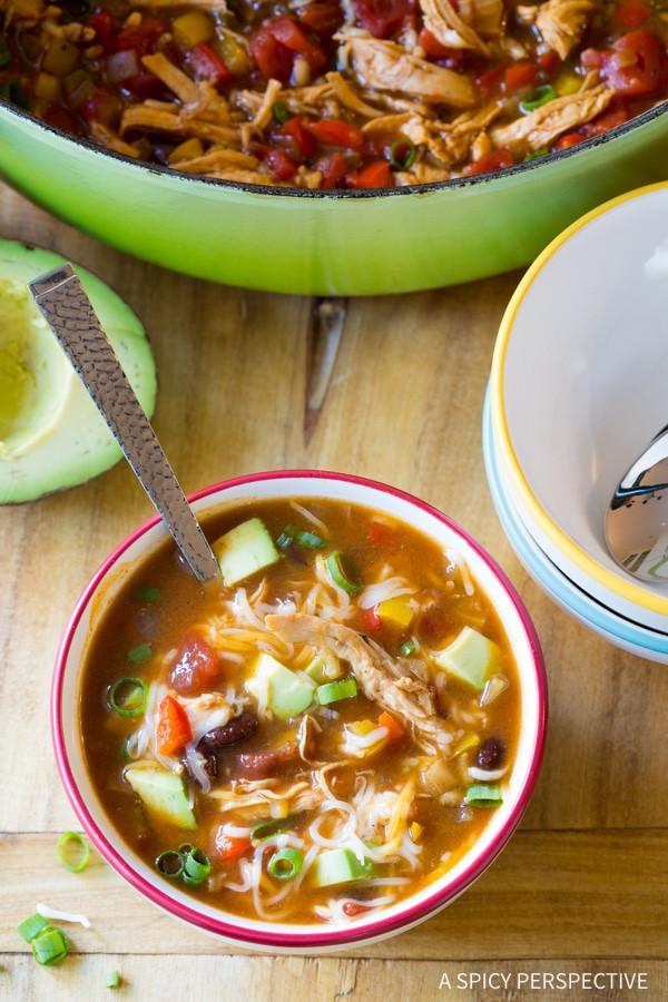 Low Fat Chicken Fajitas  Skinny Chicken Fajita Soup A Spicy Perspective