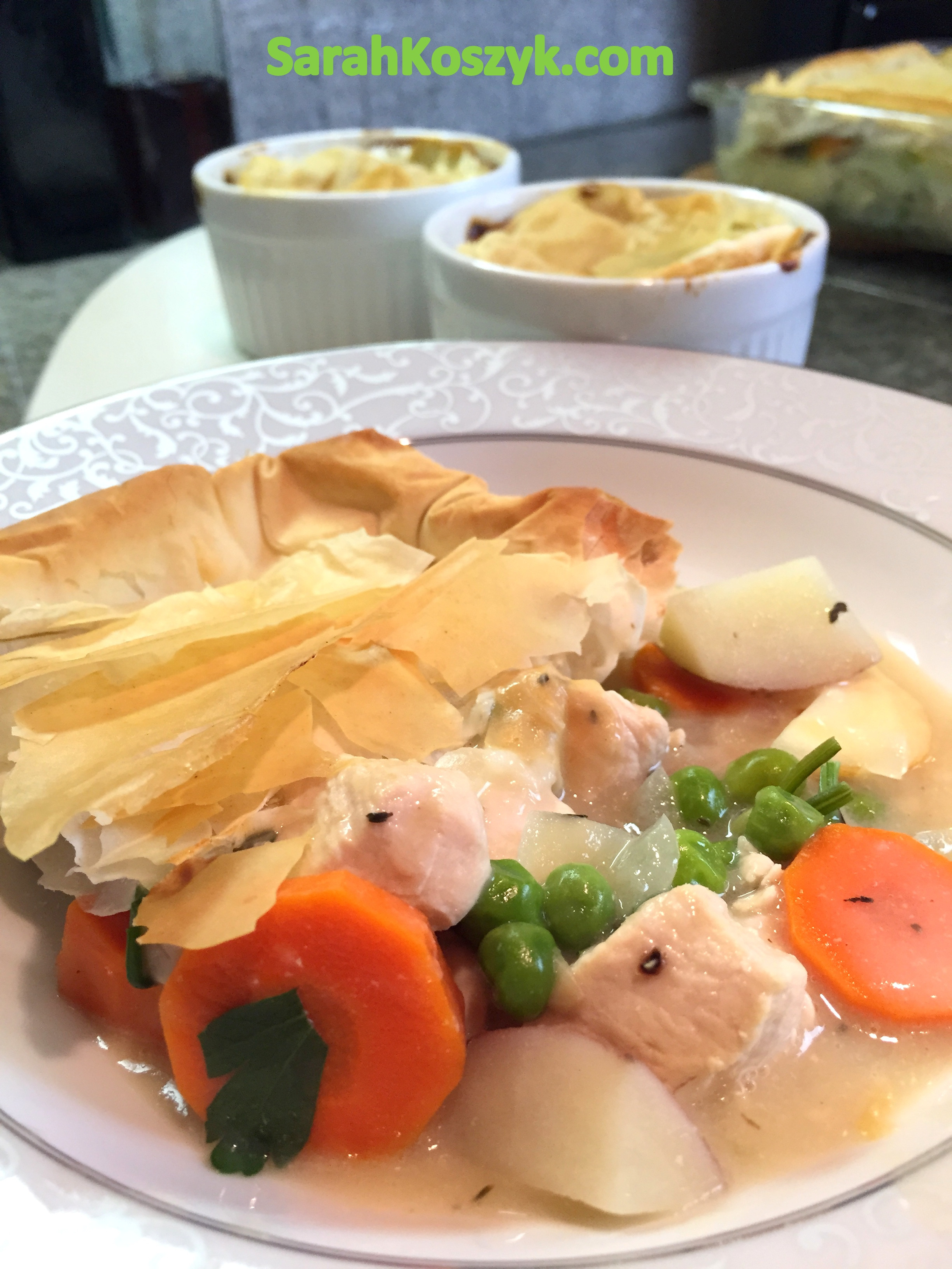 Low Fat Chicken Pot Pie  Healthy and Low Fat Chicken Pot Pie Sarah Koszyk Family