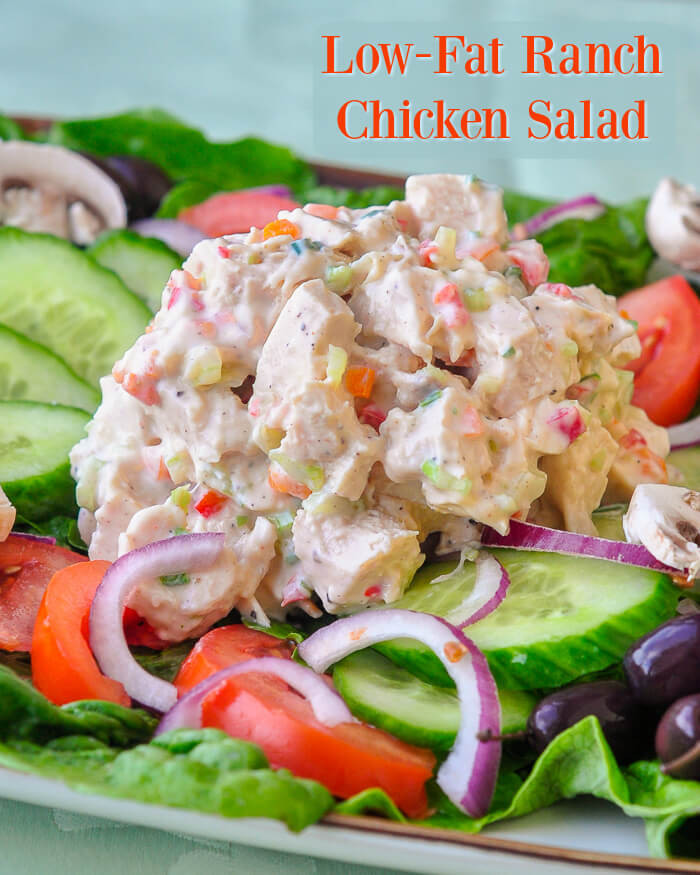 Low Fat Chicken Salad  Low Fat Ranch Chicken Salad low ca l& low fat but big on