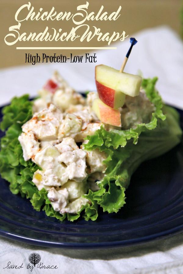 Low Fat Chicken Salad Recipe  Low Fat Protein Rich Chicken Salad Sandwich Wraps