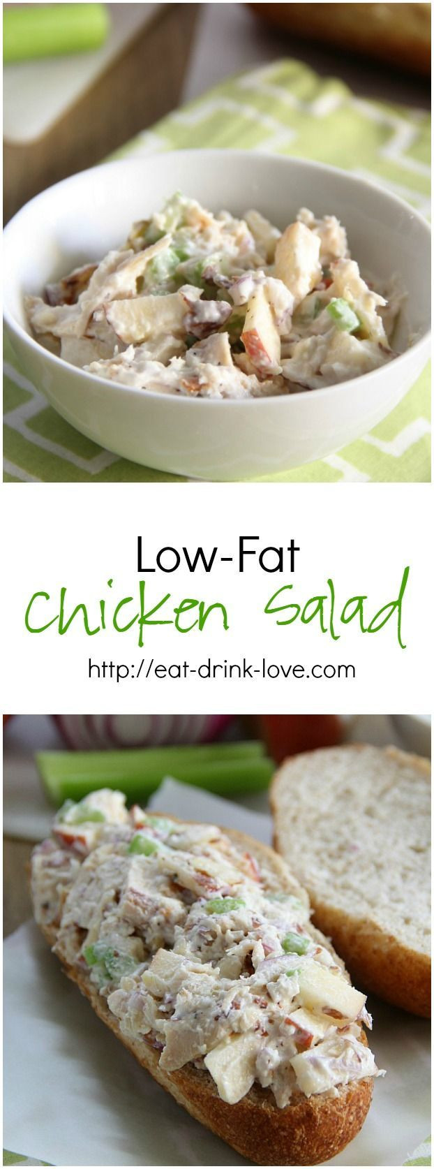Low Fat Chicken Salad  1000 images about COOKING HEALTHY FOODS on Pinterest