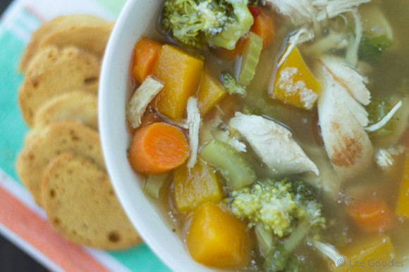 Low Fat Chicken Soup  low fat chicken ve able soup