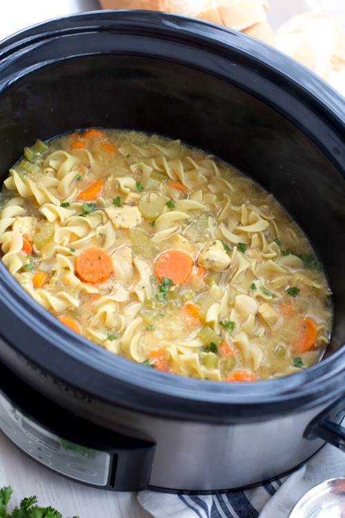 Low Fat Chicken Soup  Crockpot Low Fat All Natural Chicken Noodle Soup Panera