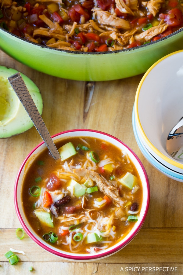 Low Fat Chicken Soup  Skinny Chicken Fajita Soup A Spicy Perspective