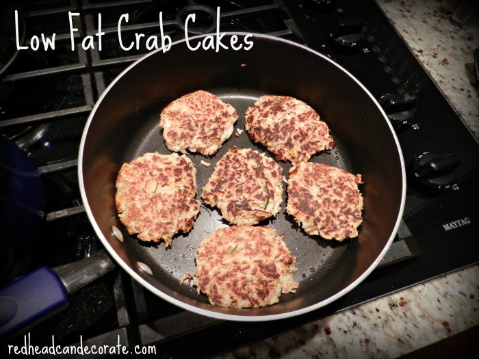 Low Fat Crab Cakes  Crab Cakes & Tangy Slaw Redhead Can Decorate
