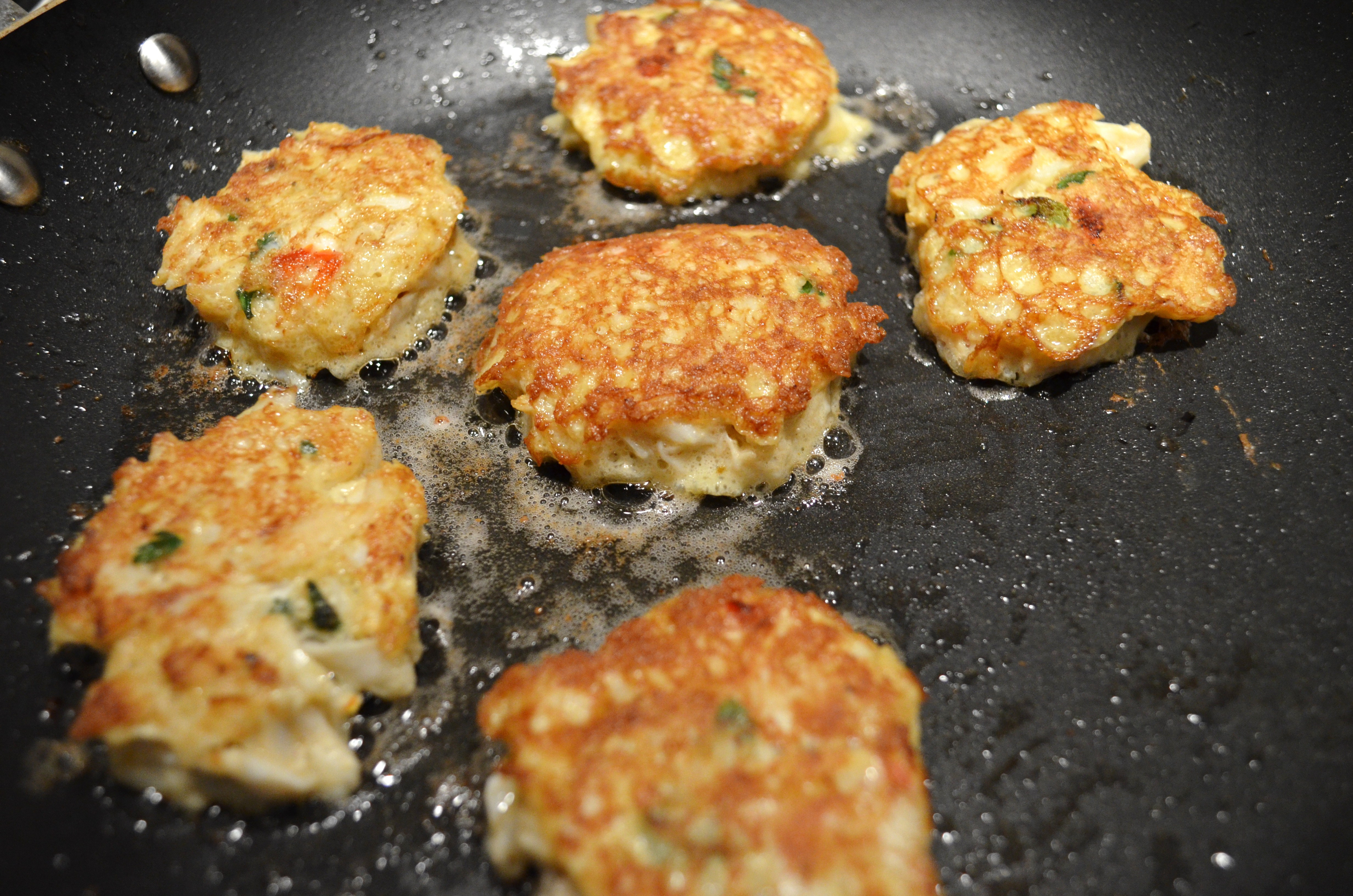 Low Fat Crab Cakes  Low Carb Crab Cakes with Mustard Sauce • Domestic Superhero