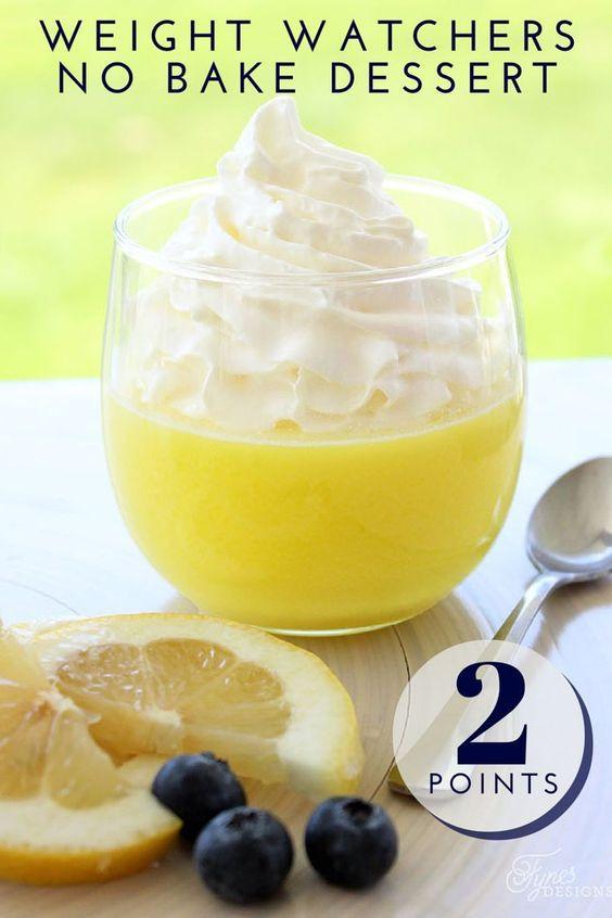 Low Fat Desserts Weight Watchers  Lemon Weight Watchers Dessert Recipe