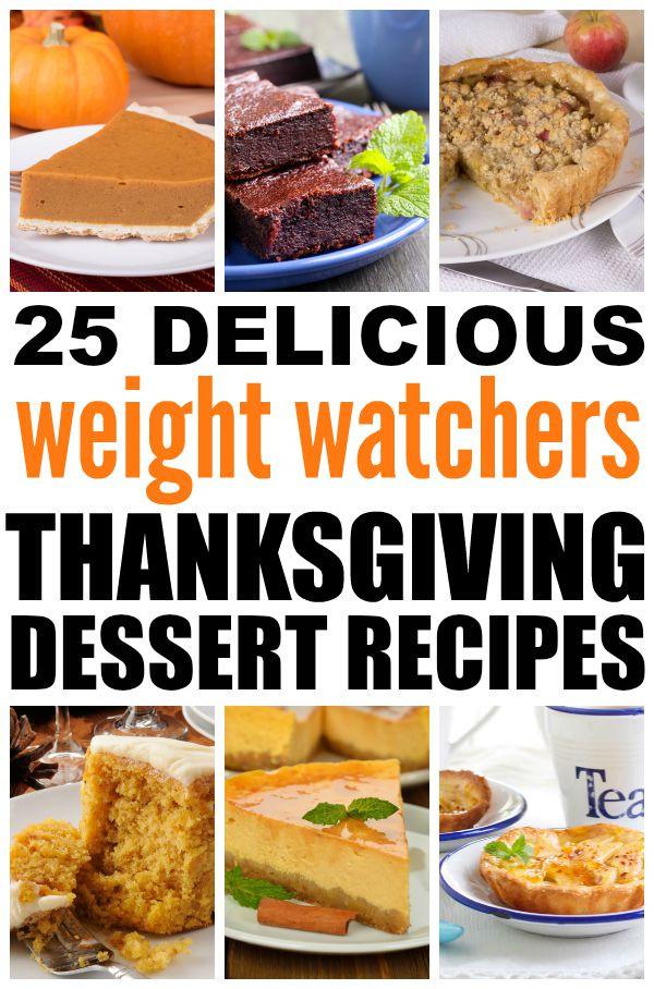 Low Fat Desserts Weight Watchers  25 Weight Watchers Thanksgiving dessert recipes