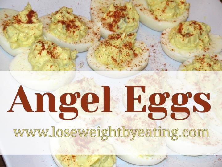 Low Fat Deviled Eggs  Angel Eggs Low Fat Deviled Eggs