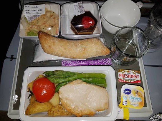 Low Fat Dinner  Low fat meal dinner Picture of Singapore Airlines