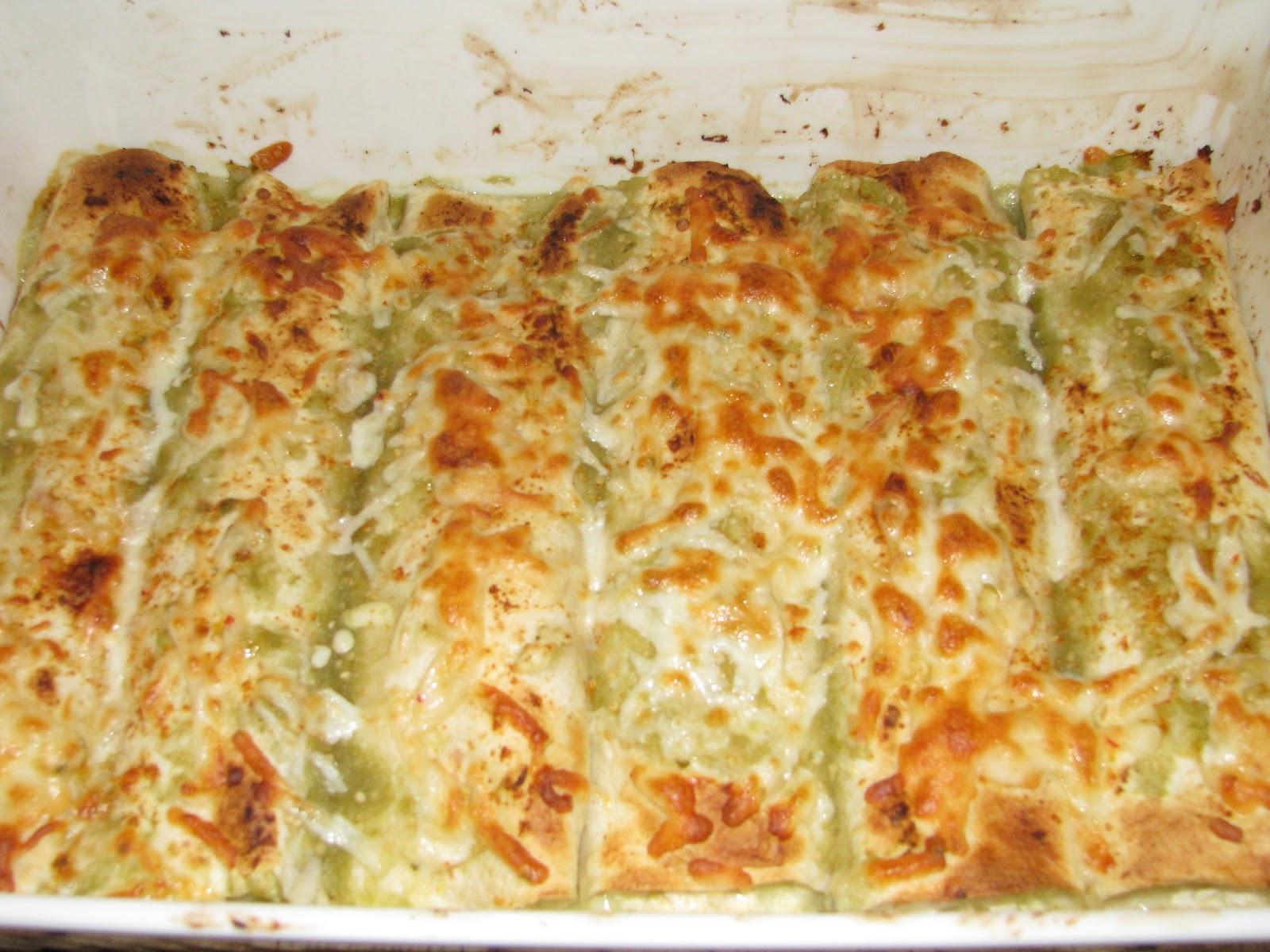 Low Fat Enchiladas  two foo s & a pup Low Fat Green Chile & Chicken Enchiladas