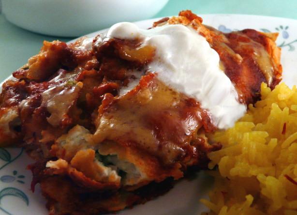 Low Fat Enchiladas  Low Fat Chicken Enchiladas With High Fat Taste Recipe
