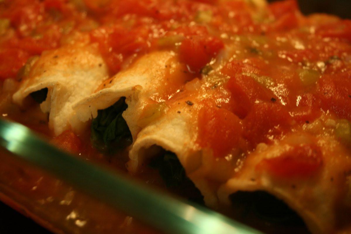 Low Fat Enchiladas  Low Fat Spinach Enchiladas BigOven