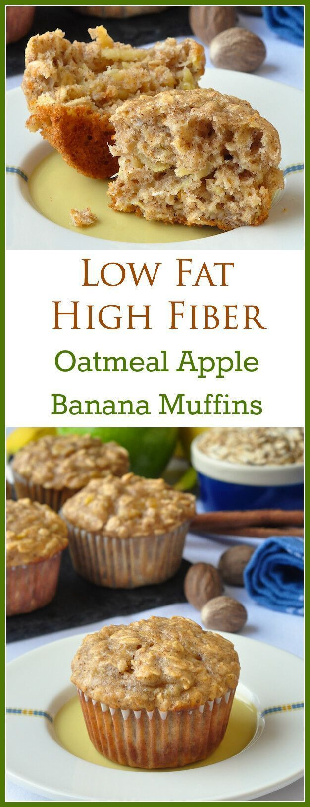 Low Fat Food Recipes  Oatmeal Apple Banana Low Fat Muffins Recipe